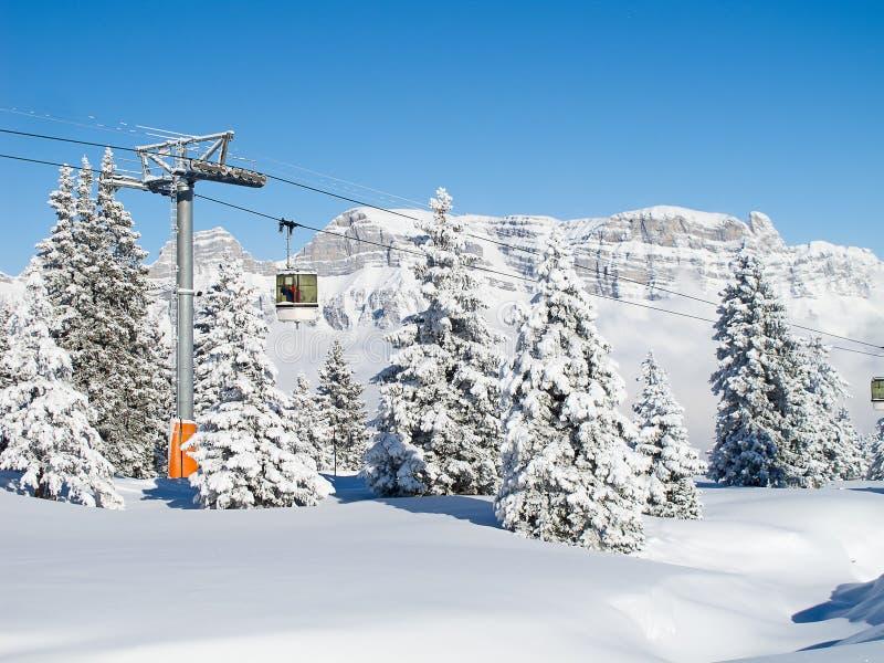 Зима в горных вершинах стоковые фото