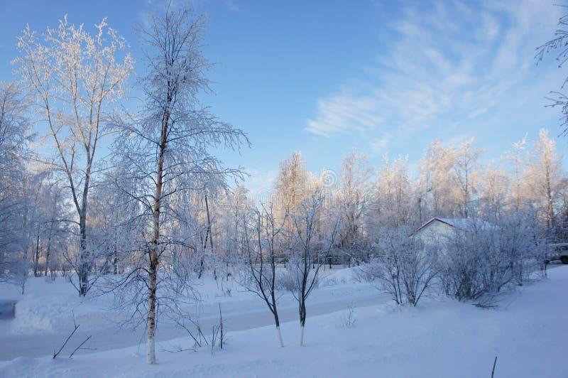Зима в городе Kem стоковое фото