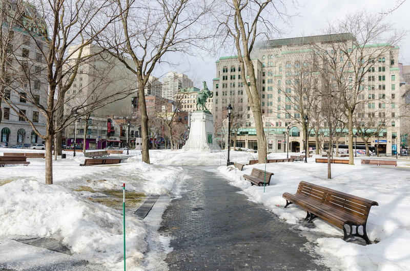 Зима в Монреале, Канаде стоковая фотография