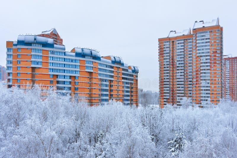Зима в Москве России стоковая фотография rf