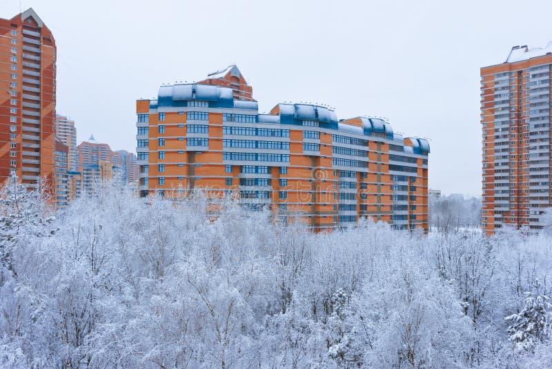 Зима в Москве России стоковые фото