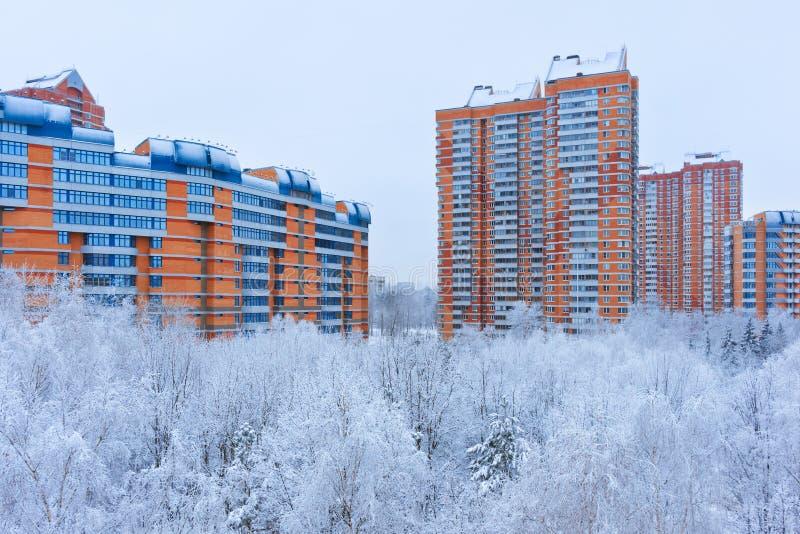 Зима в Москве России стоковое изображение