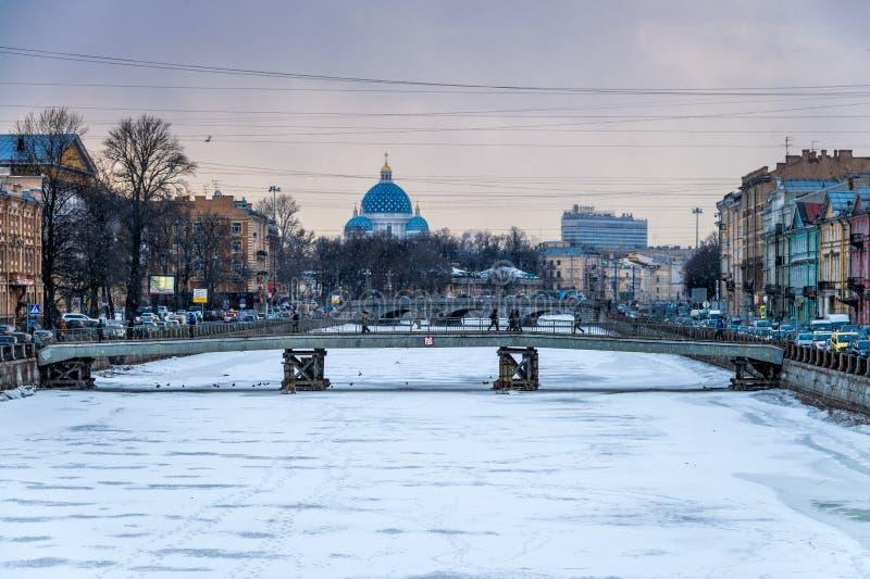 Зима в Санкт-Петербурге стоковая фотография