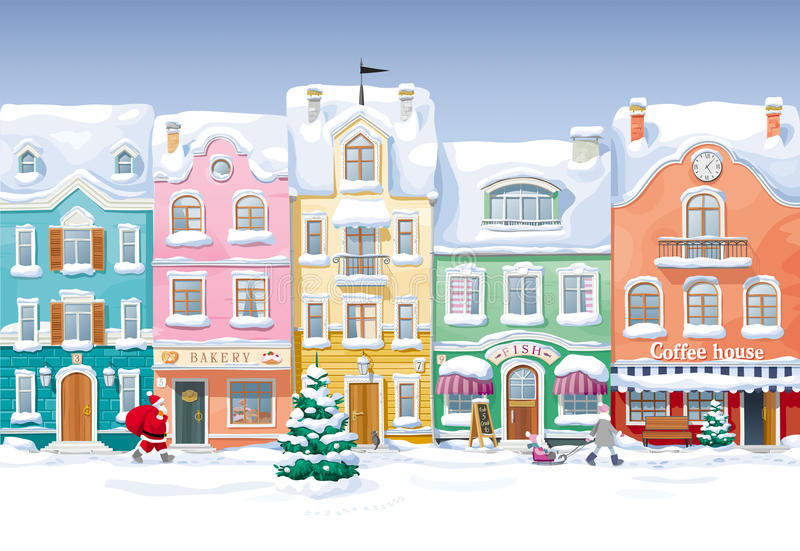 зима 2010 в январе России городского пейзажа moscow -го иллюстрация вектора