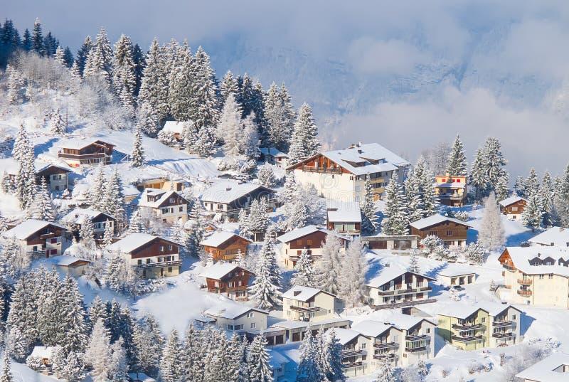 Зима в alps стоковая фотография
