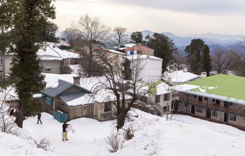 Зима в Murree, Пакистане стоковые фотографии rf
