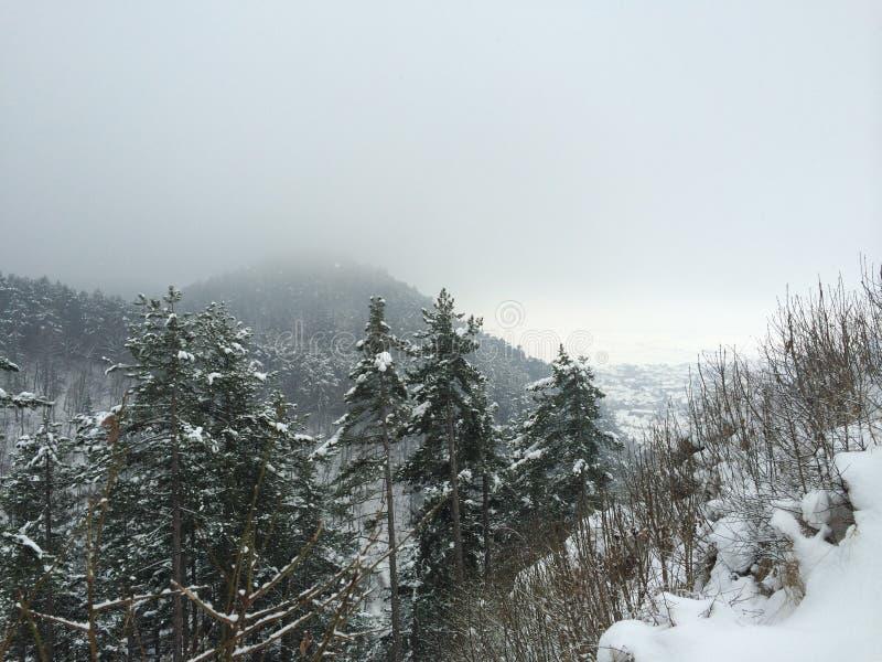 Зима в Rasnov стоковые фотографии rf
