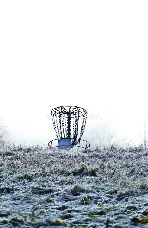 зима гольфа диска стоковая фотография rf