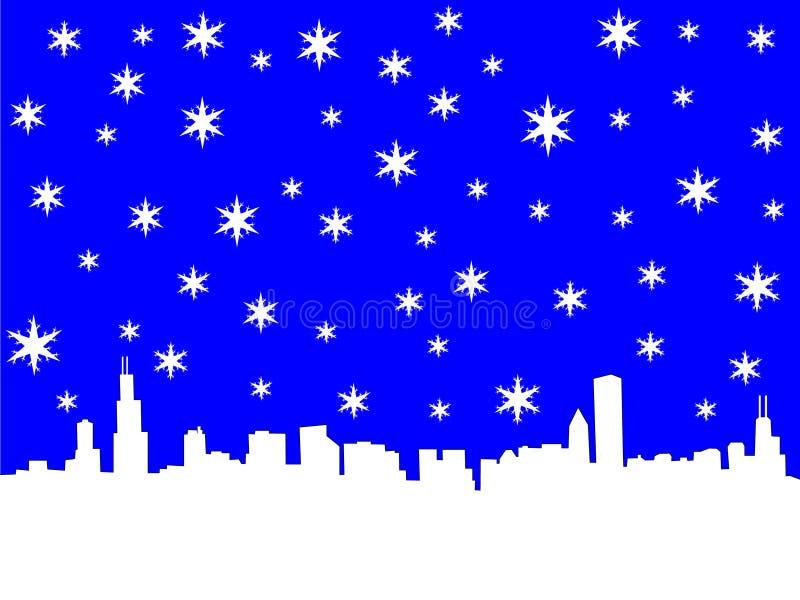 зима горизонта chicago бесплатная иллюстрация