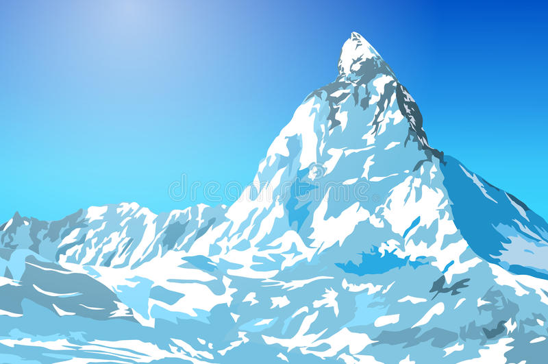зима гор gudauri caucasus Georgia иллюстрация вектора