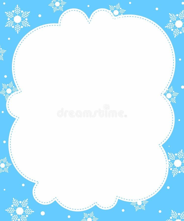 зима граници иллюстрация вектора