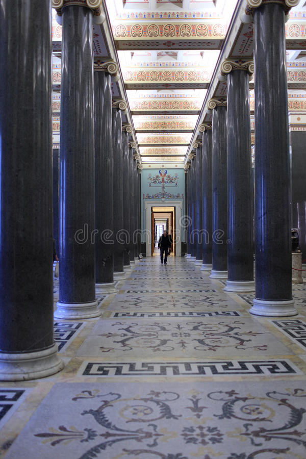 зима дворца 20 залы колонки стоковое фото
