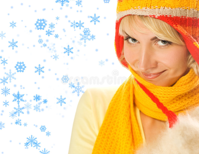 зима девушки одежды стоковое фото
