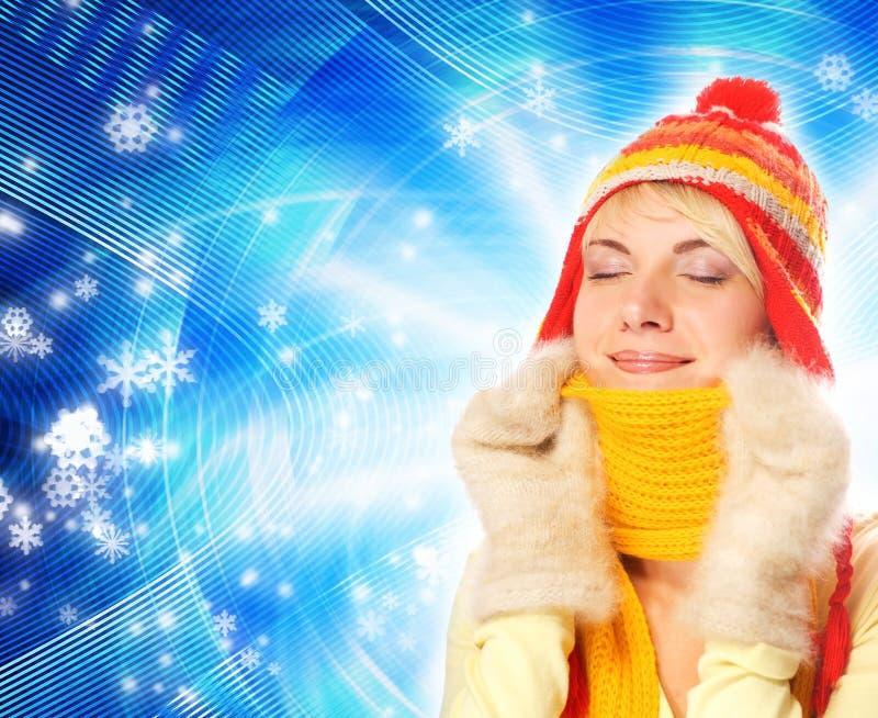 зима девушки одежды стоковое фото rf