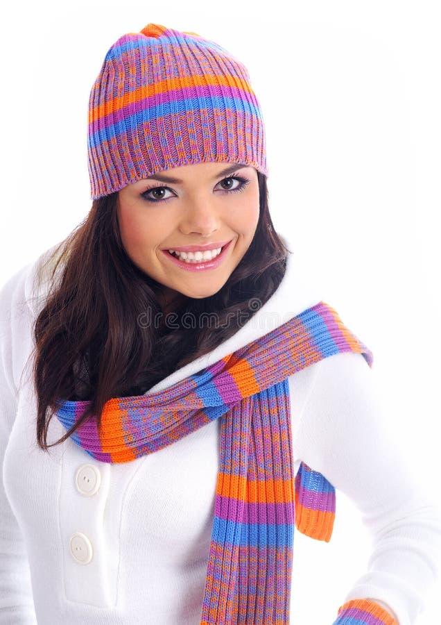 зима девушки способа стоковое фото rf