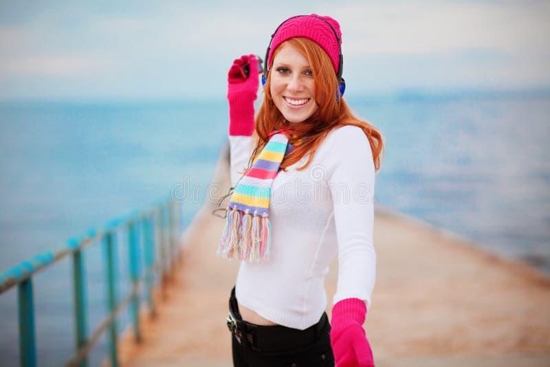 зима девушки способа стоковые фото
