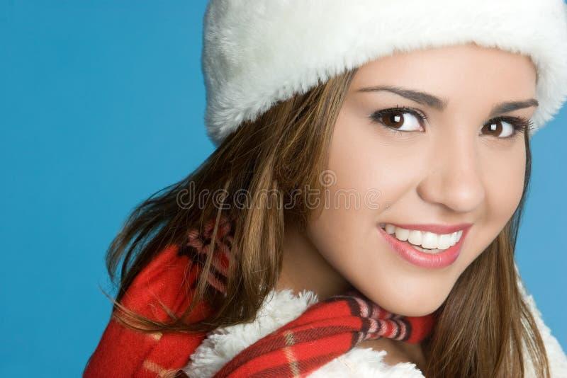 зима девушки счастливая стоковая фотография