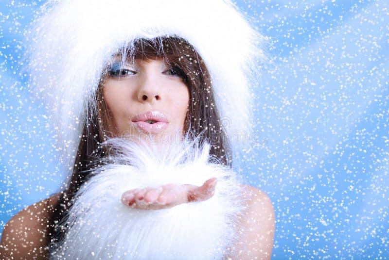зима девушки стоковое изображение