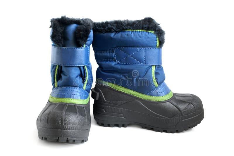 зима детей ботинка стоковые изображения rf