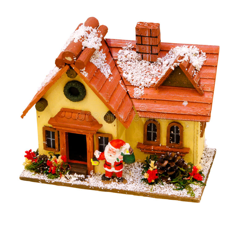 зима дома рождества стоковая фотография rf
