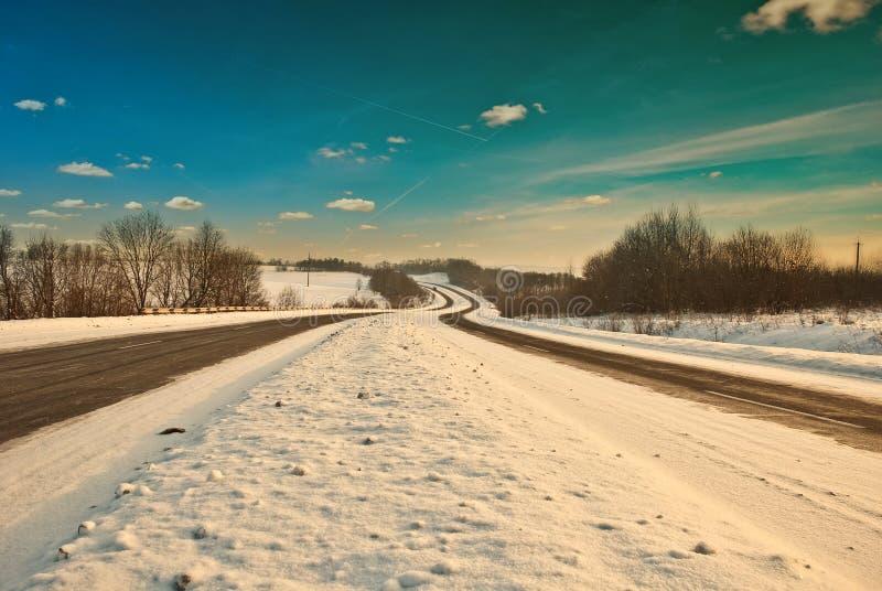 зима дорог стоковое изображение