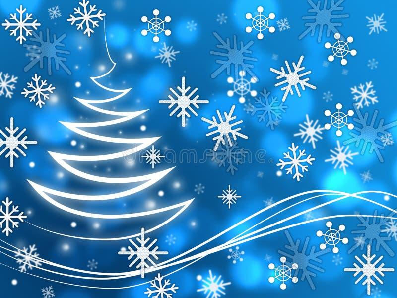 Зима и замерзать зигзага выставок предпосылки снежинок иллюстрация вектора