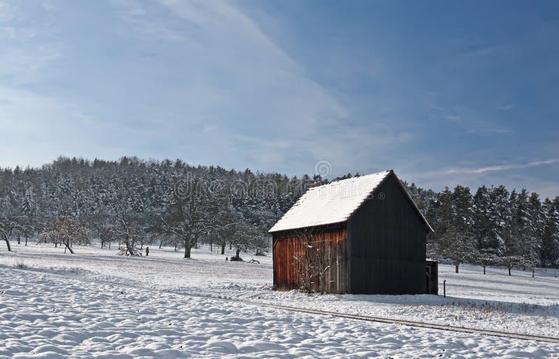 зима кабины стоковое изображение