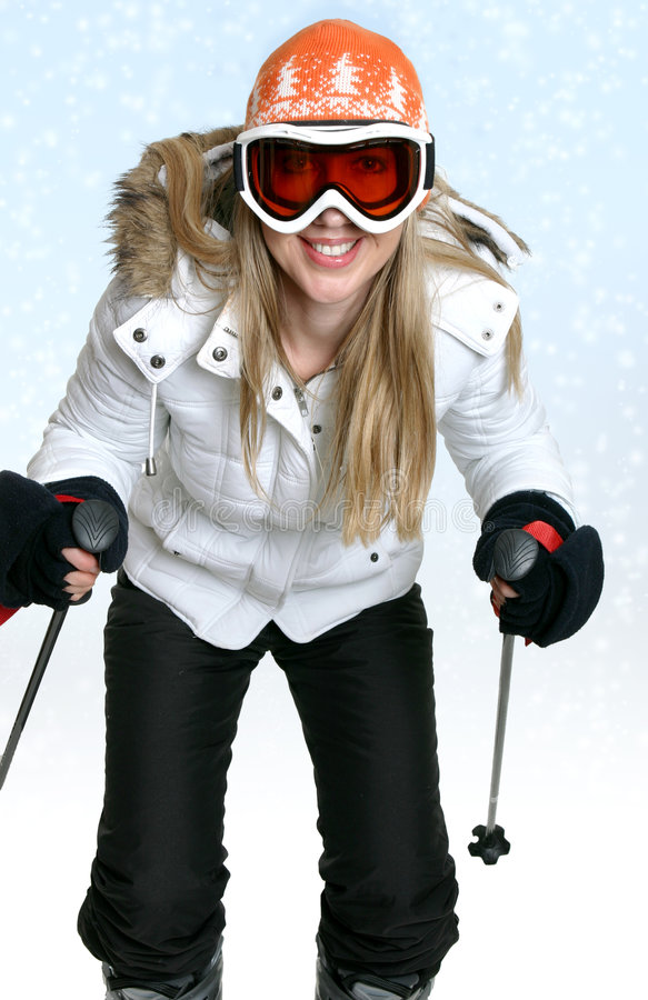 зима катания на лыжах стоковая фотография rf
