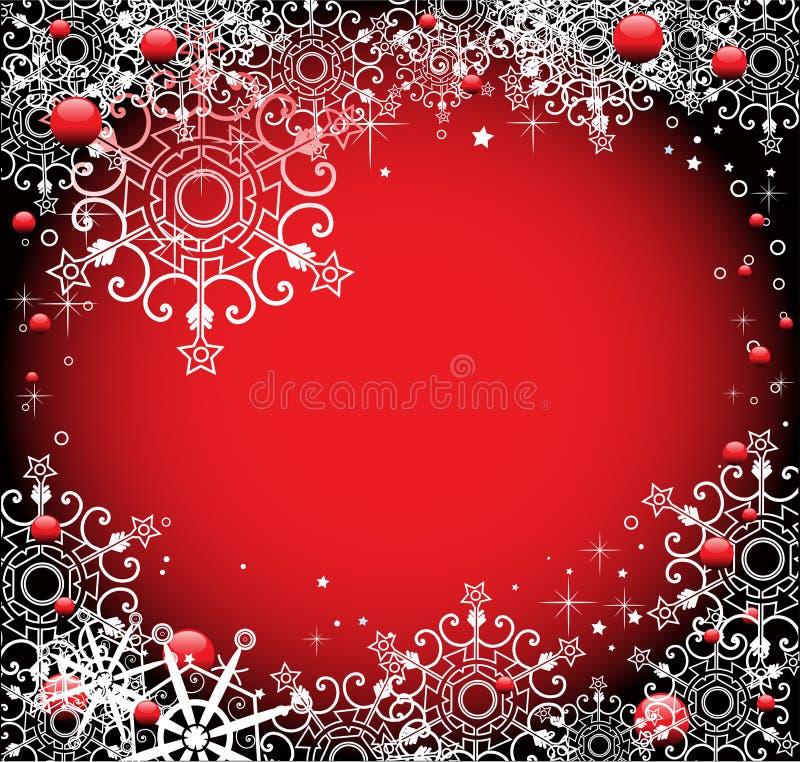 зима красного цвета рамки иллюстрация вектора