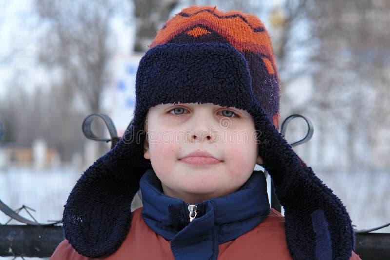 зима крышки мальчика стоковое изображение