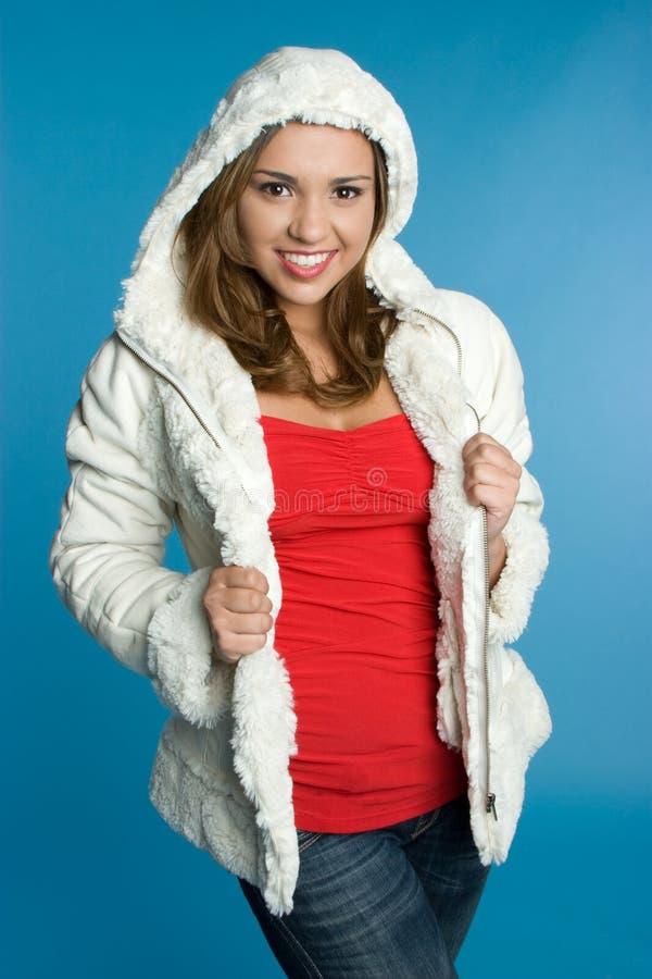 зима куртки девушки стоковое фото