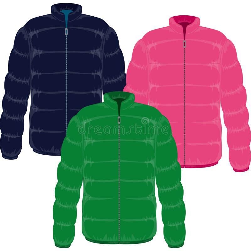 зима куртки иллюстрация штока