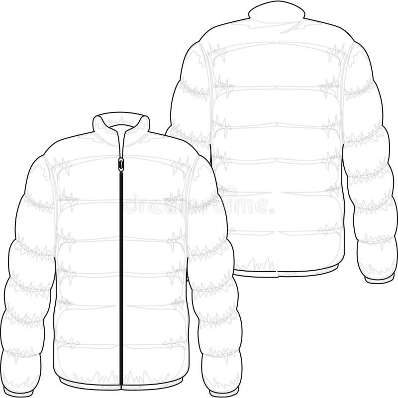зима куртки иллюстрация вектора
