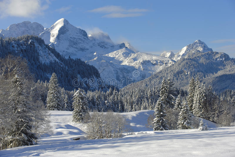 зима ландшафта Баварии стоковые фото