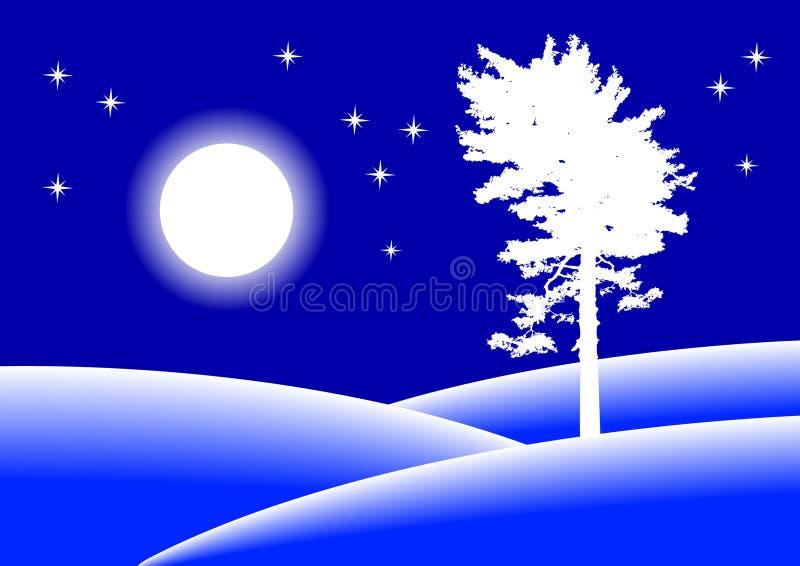 зима ландшафта иллюстрация вектора