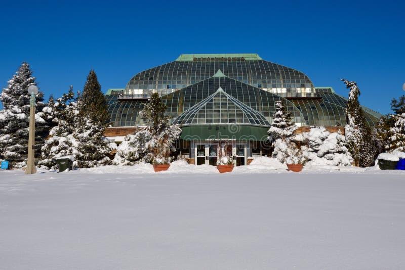 Зима на консерватории стоковые фотографии rf