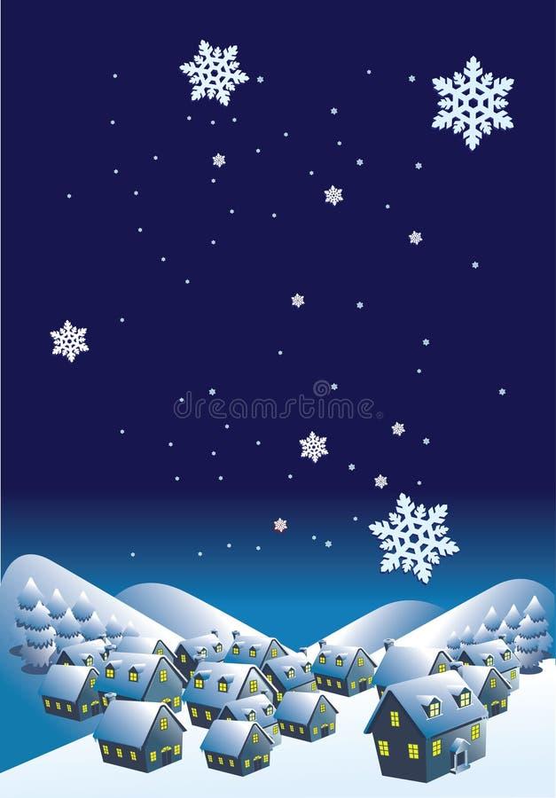 зима ночи бесплатная иллюстрация