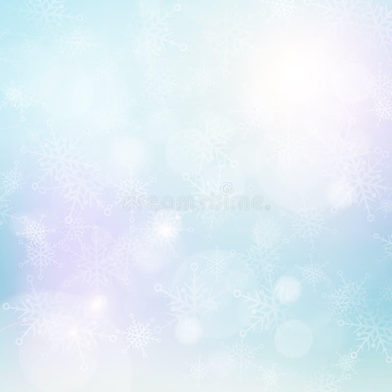 Зима освещает предпосылку снежинки бесплатная иллюстрация
