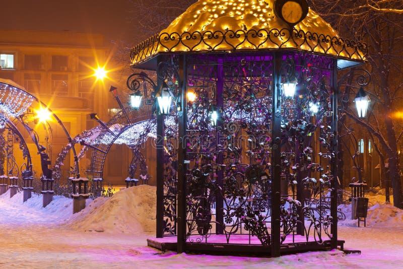 Download зима павильона парка ночи города Стоковое Фото - изображение насчитывающей темно, никто: 18387290