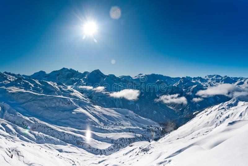 зима панорамы гор стоковое фото