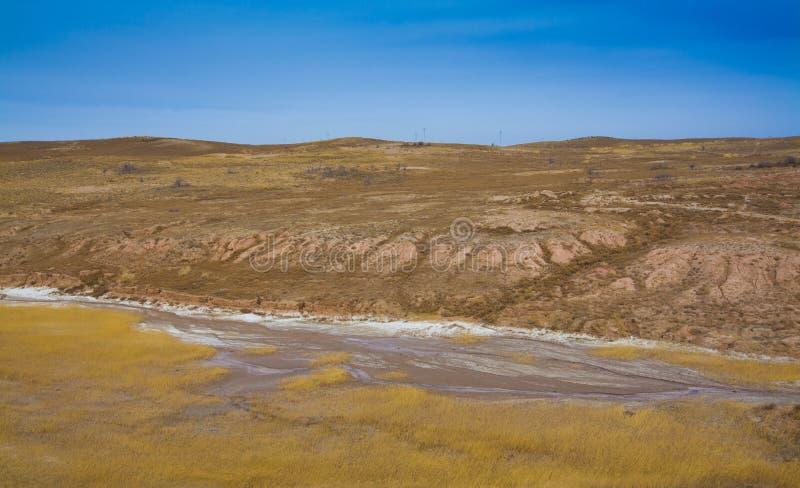Зима плато лёсса стоковая фотография