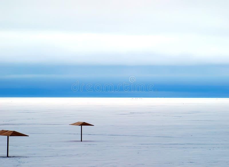 зима пляжа стоковые изображения