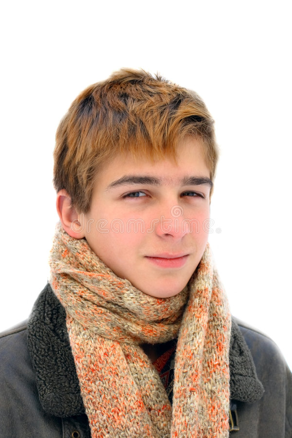 зима подростка портрета стоковые фотографии rf