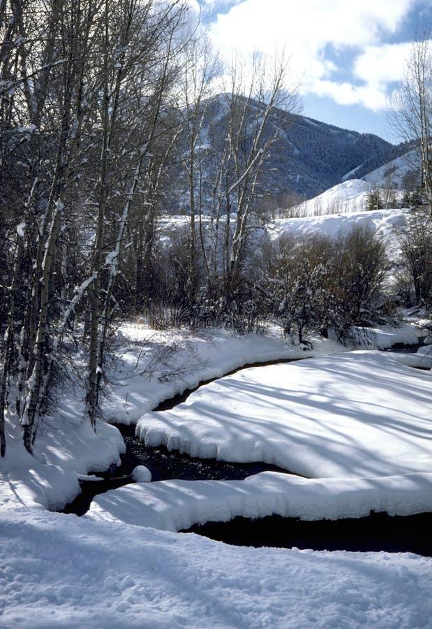 зима потока стоковое изображение