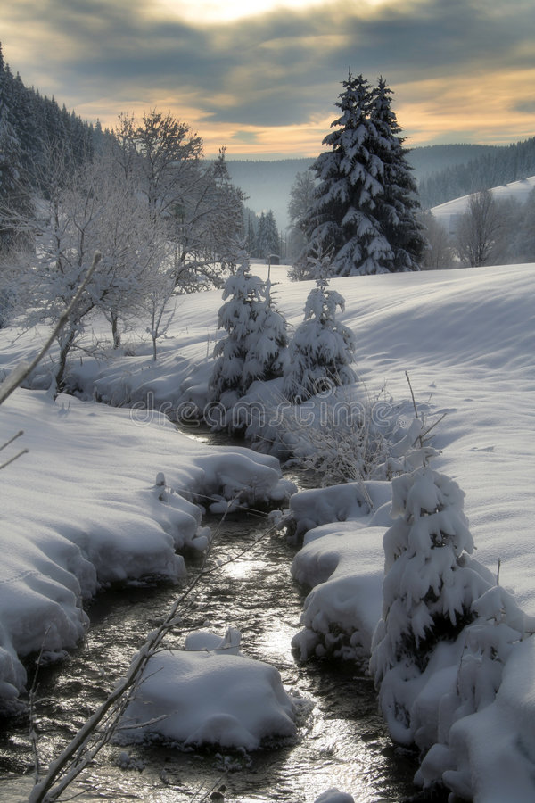зима потока стоковые изображения rf
