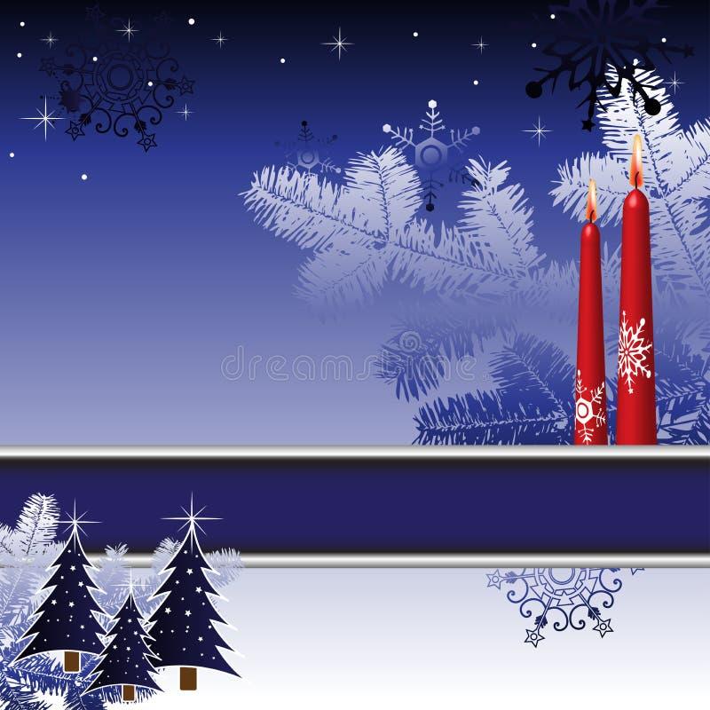 зима праздников карточки иллюстрация вектора