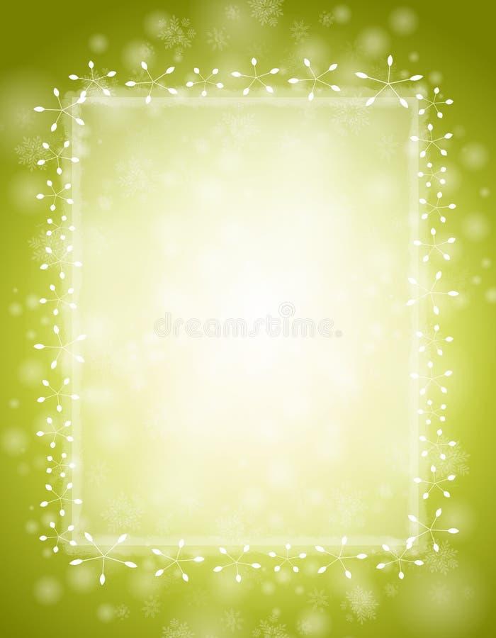 зима предпосылки зеленая иллюстрация вектора