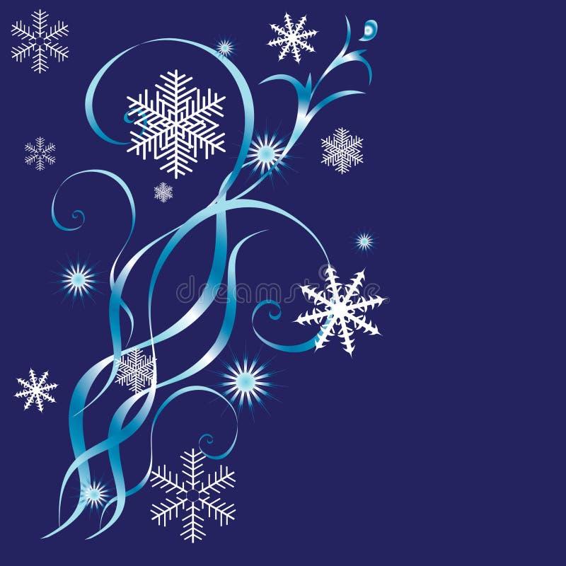 зима предпосылок иллюстрация вектора