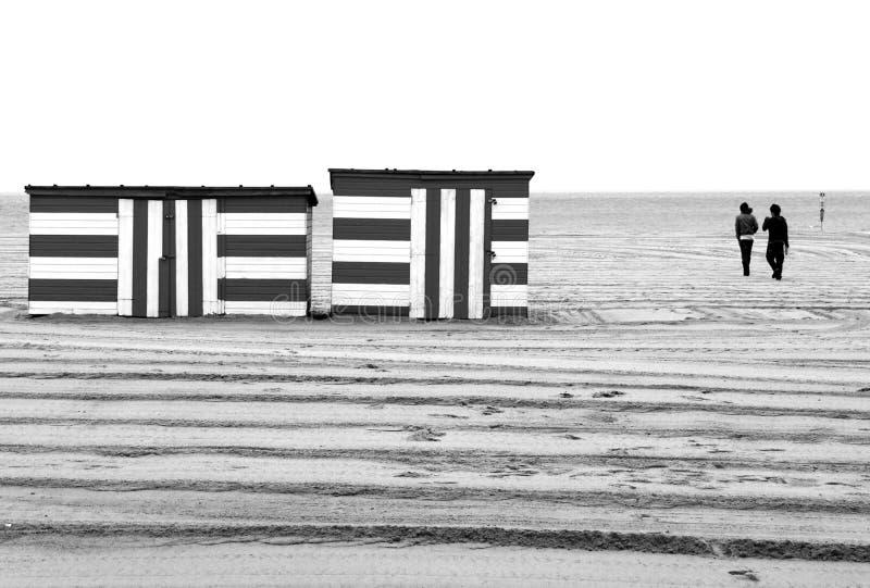 зима прогулки пляжа стоковая фотография