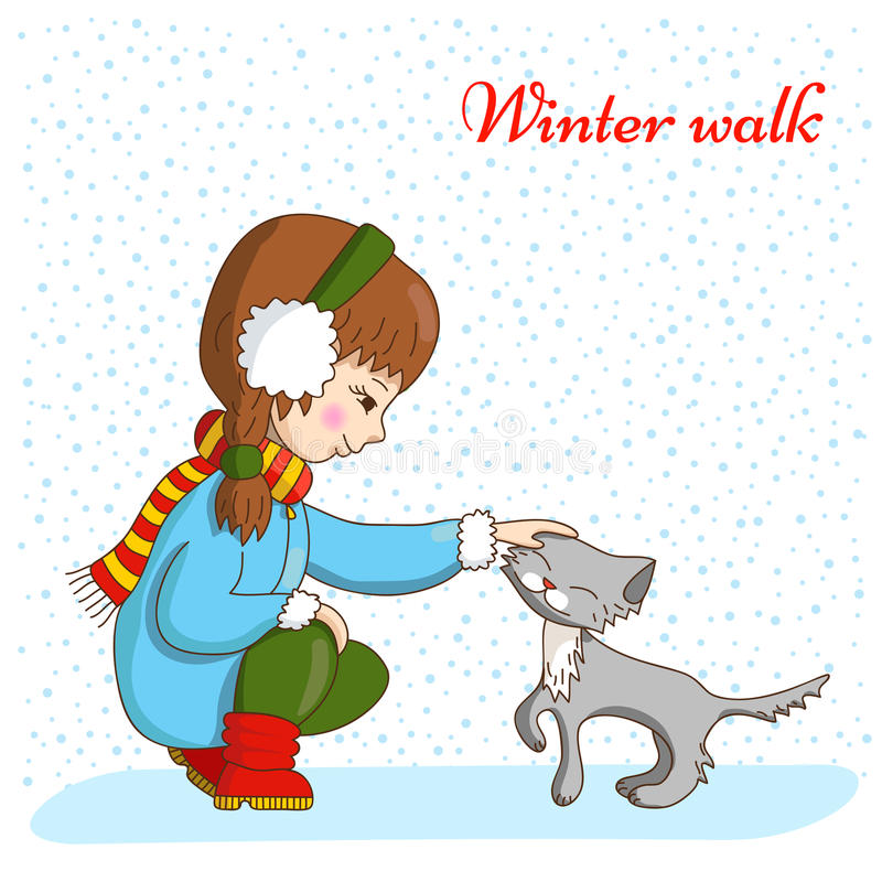 зима прогулки сынка мумии зеленой куртки отца пальто голубой крышки берета красная идя снег бесплатная иллюстрация